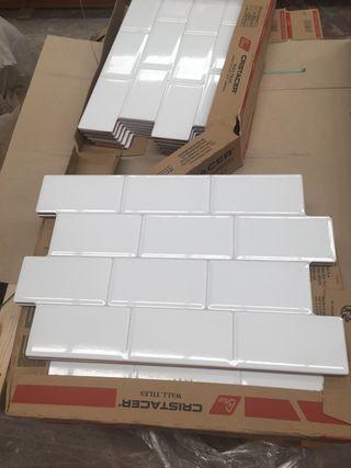 Azulejos lowland en blanco brillo 34x50 Rustico
