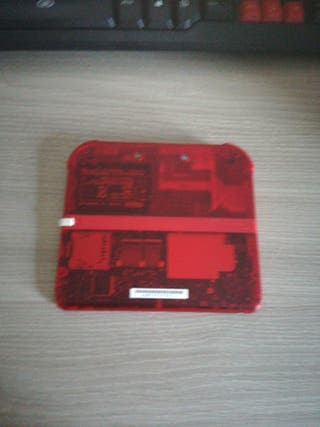 Nintendo 2ds Transparente Roja