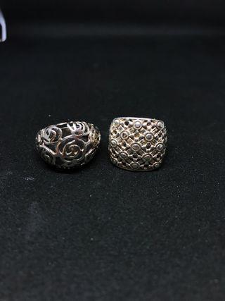 Liquidación 2 anillos de plata