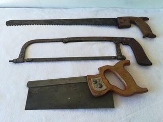Lote de 3 herramientas antiguas