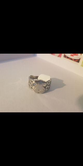 anillos acero sin estrenar restos de tienda