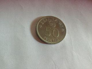 Moneda de 50 pesetas del 80