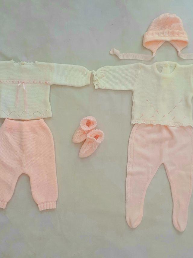 d5b01ba5c 2 conjuntos 0-1 mes. ropa bebe niña primera puesta de segunda mano ...