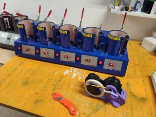 maquina sublimación 5 puestos prensa plancha taza