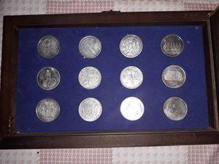 monedas de plata real madrid coleccion