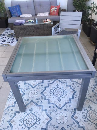 Mesa en aluminio extensible terraza