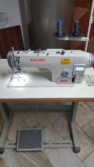 máquina de coser plana cortahilos