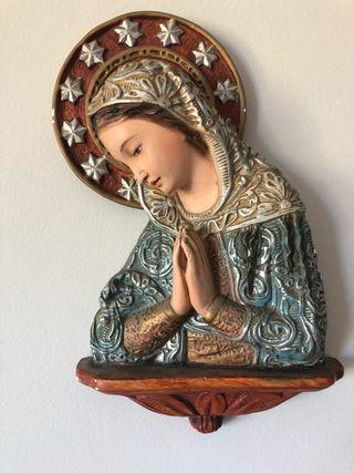 Figura Virgen colgar en pared