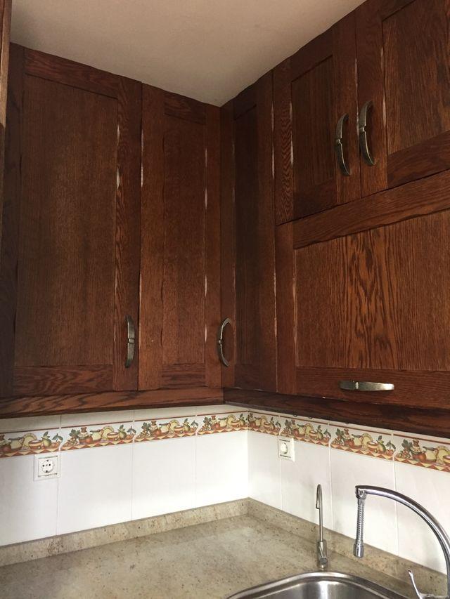 PUERTAS de muebles de cocina (madera maciza). de segunda ...