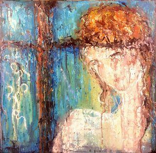 Una pintura acrílico en lienzo