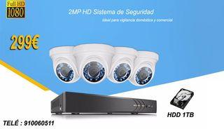 Sistema Videocámaras Vigilancia Seguridad Full HD