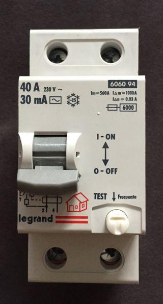 Interruptor Diferencial Legrand 6060 94