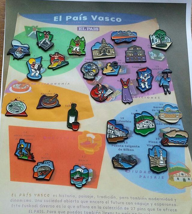 Pais Vasco juego de pins de segunda mano por 30 € en Bilbao en WALLAPOP 3394f721fae