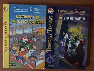 2 llibres de Geronimo Stilton