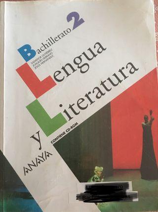 LIBRO LENGUA Y LITERATURA 2 BACHILLERATO ANAYA