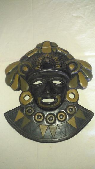 Careta Arte Azteca en ceramica