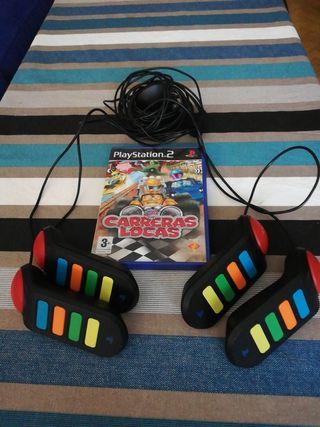 juego PlayStation 2 carreras locas + buzz