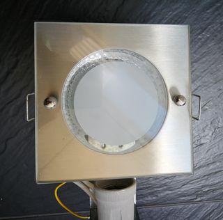 lote 4 downlight cuadrados bajo consumo 230V
