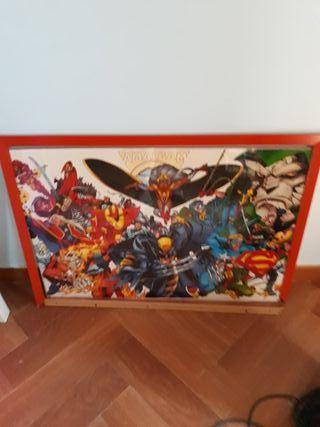 cuadro grande superheroes