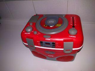 NEVERA- RADIO- LECTOR DE CDs. VINTAGE COCA COLA