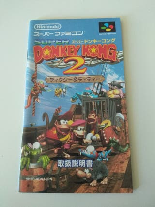 manual diddy's kong quest super famicom