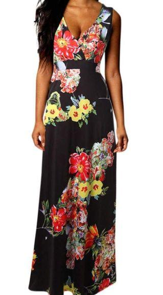 Vestido largo estampado floral 12€