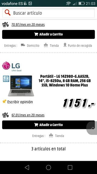 ordenador gram lg