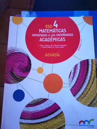 3 libros Matemáticas 4 ESO