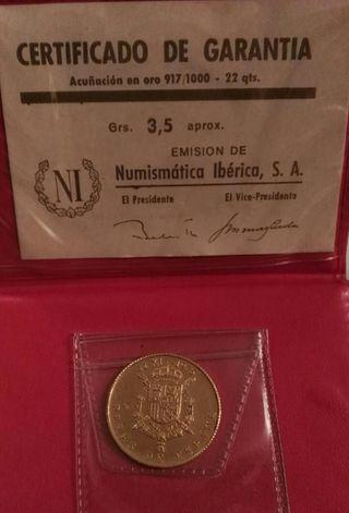 Medalla de oro 22K.Coronacion Reyes