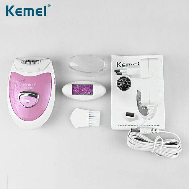 Depiladora Eléctrica Kemei 2 en 1, a estrenar