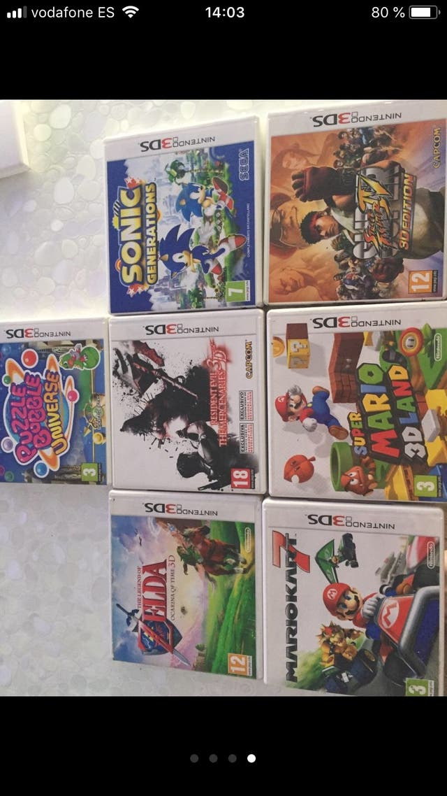 Juegos Nintendo 3ds Ds Zelda Mario Street Fighter De Segunda Mano