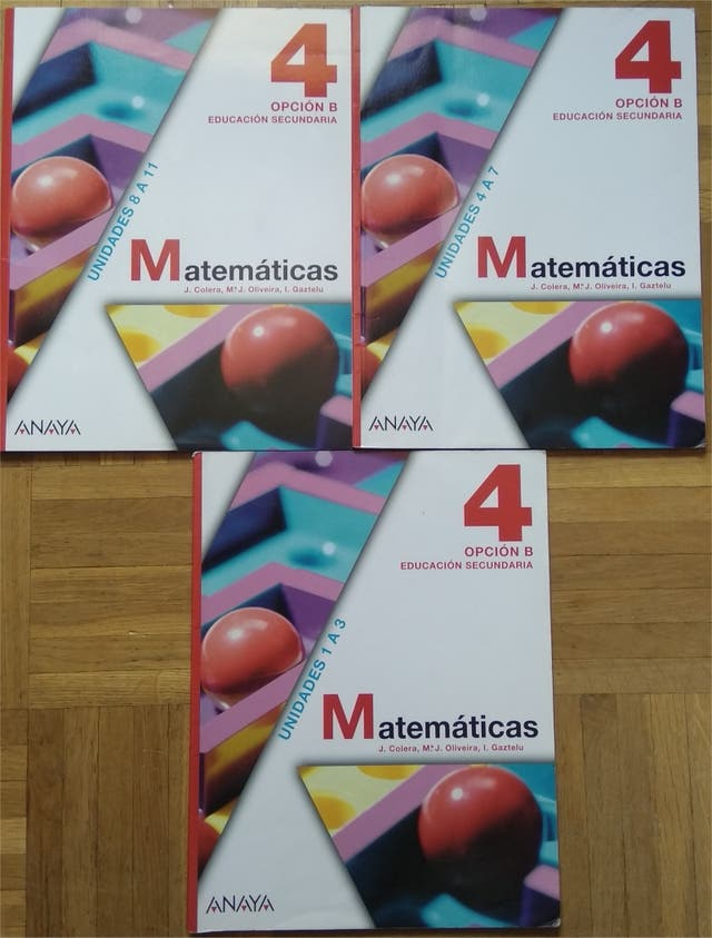 Libros 4º ESO Matemáticas editorial Anaya