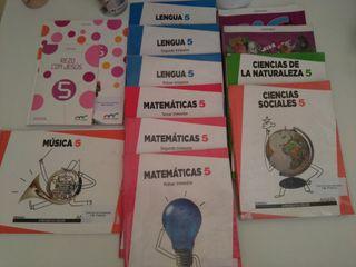 Libros de 5° primaria, colegio San Juan Bosco