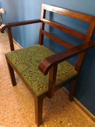 Silla sillon antigua, tapizado original