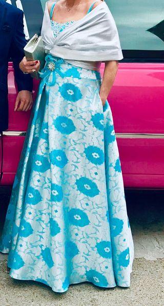 Vestido De ceremonia Sonia Peña T42/44 Precioso