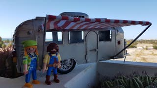 playmobil y caravana