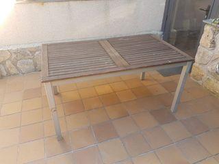 Mesa extensible para jardin