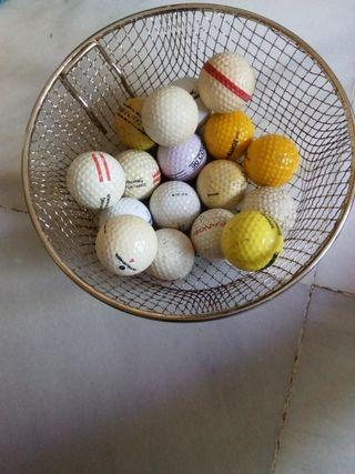 17 pelotas de golf diferentes marcas segunda mano  España