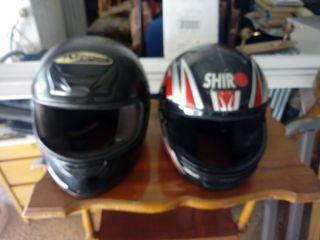 dos cascos ,moto,,,grandes
