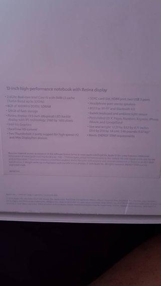 MacBook pro retina display 2014