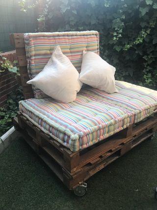 Sofá palets DIY