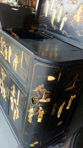 conjunto mueble bar chino
