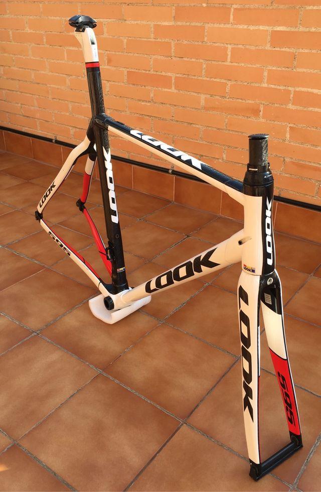 Cuadro bicicleta de carbono Look 595 talla M de segunda mano por 400 ...
