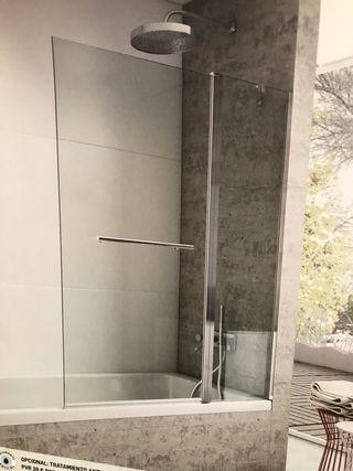 Mampara baño fijo +abatible