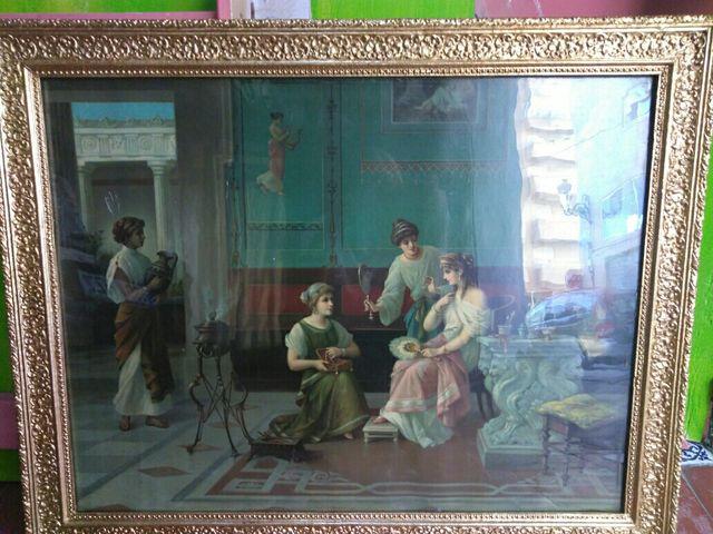 Pintura antigua, marco oro de segunda mano por 100 € en Valencia en ...