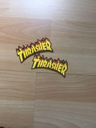 Pegatinas adhesivas thrasher+regalo supreme