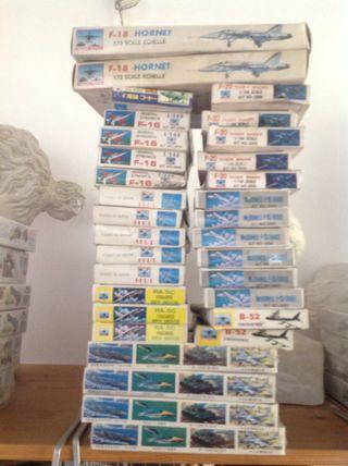 Aviacion lote de 30 cajas de kits de 9 aviones.