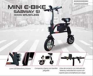 MINI E-BIKE SABWAY S1 400W BRUSHLESS