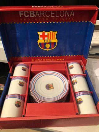 Juego de cafe Barça sin estrenar