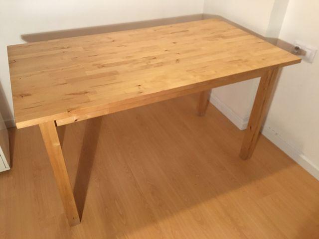 Mesa madera maciza de ikea norden 135x74 5 cm de segunda - Mesa norden ikea ...